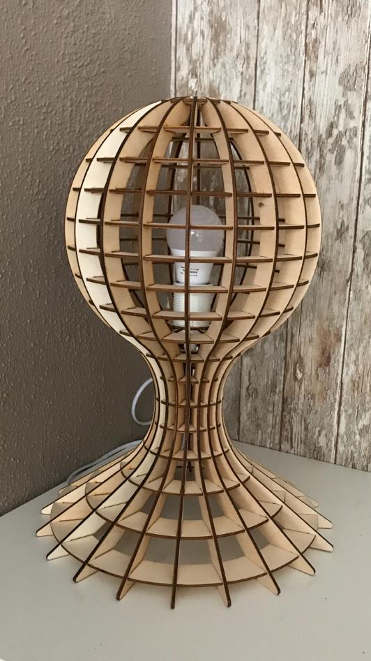 design lamp woodball