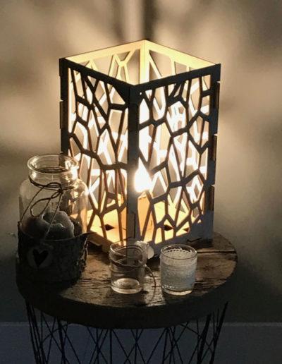 Design lamp hout