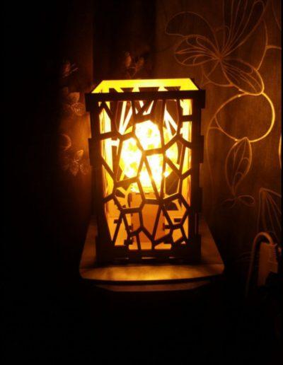 Design lamp met lichtje